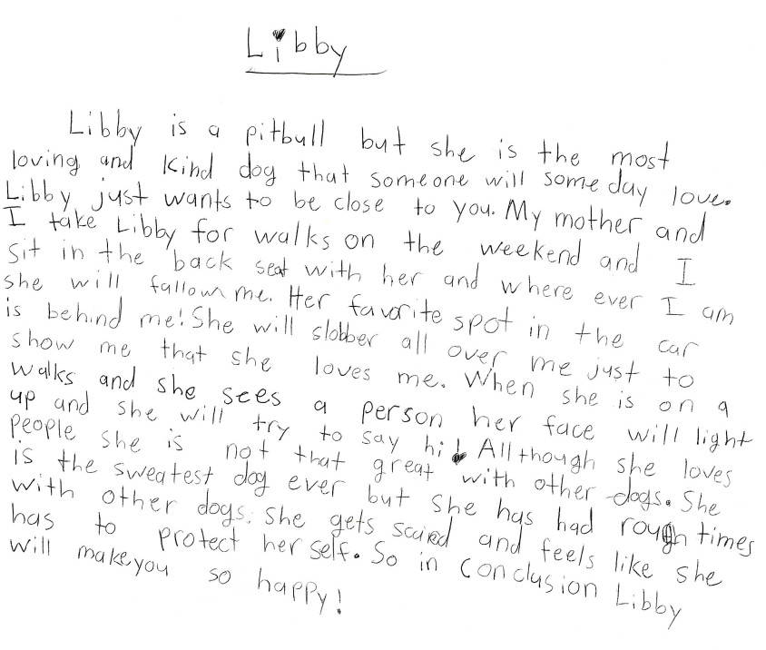 Addy's letter
